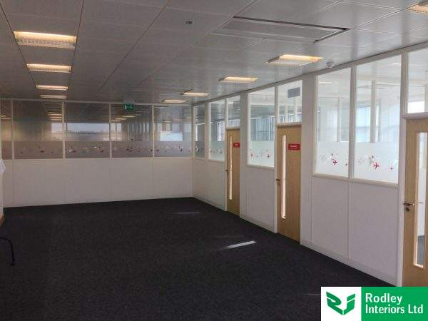 part glazed office dividing walls