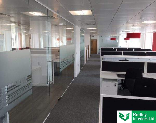 Glazed office and meeting room fronts