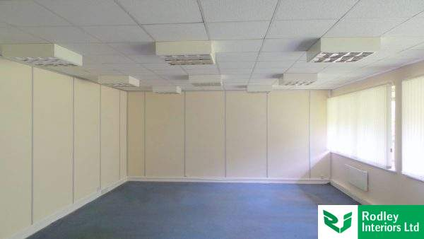 White office partitioning