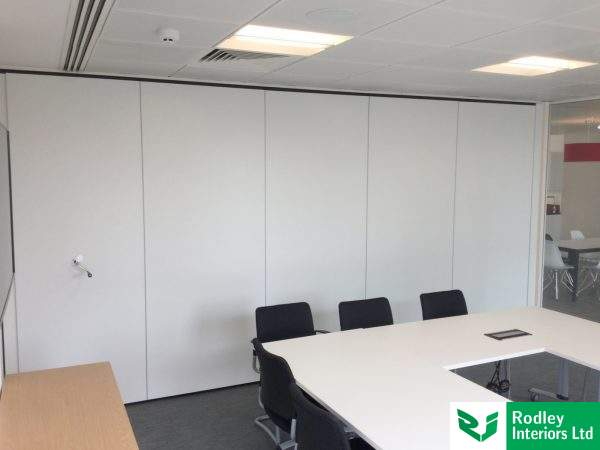 Acoustic moveable wall install in Leeds