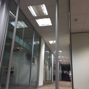 Polar frameless glass offices