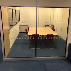 Glazed office partitioning in Leeds