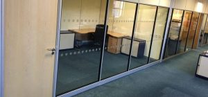 High Ceiling Office Partitioning installed for Wellman Booth in Leeds