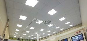 Suspended ceiling works ongoing in Leeds