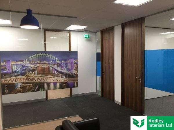 Office partitioning install in Newcastle