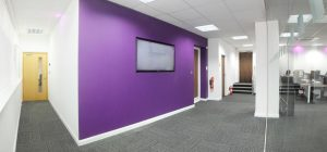Office entrance area fully refurbished