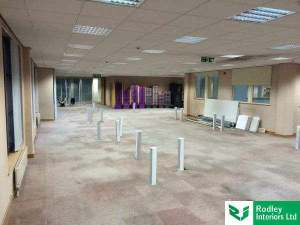 Open plan office in Newcastle ready to be refurbished