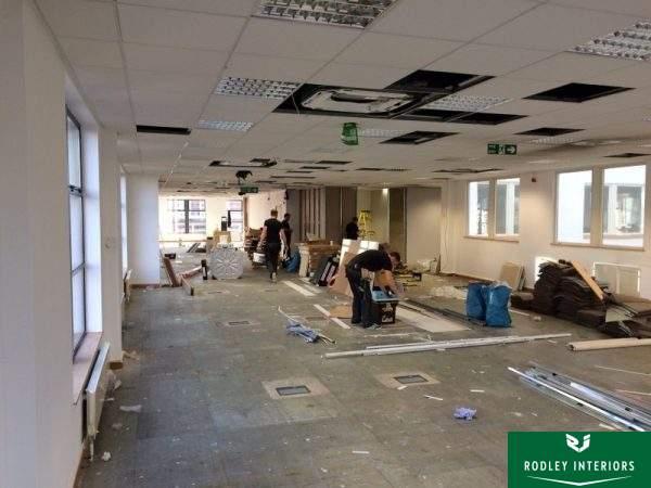 Works under in Newcastle refurbishment