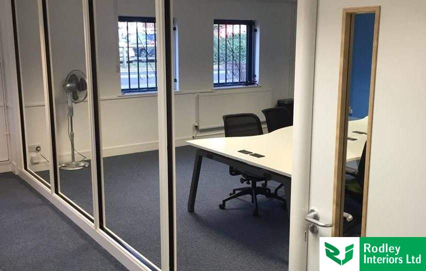 75mm office partitioning used to create new meeting room in Leeds