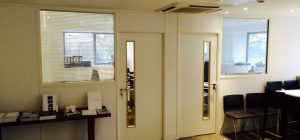 Office partitioning helps to create two new personal offices