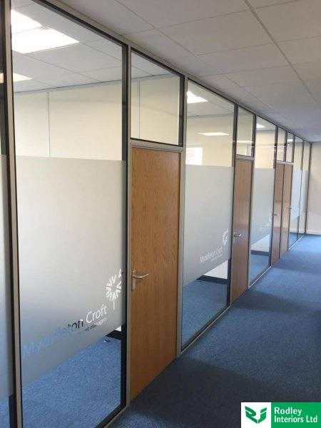 Airport west office partitioning project in yeadon for Office design west yorkshire