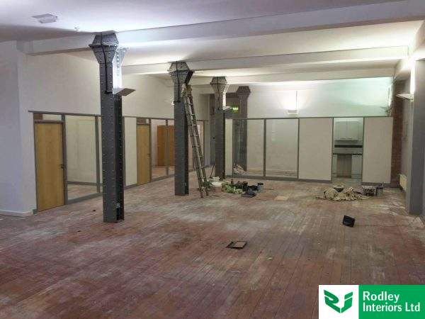Ongoing partitioning works