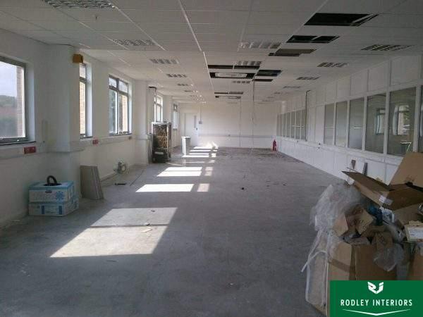 Open area ready for refurbishment