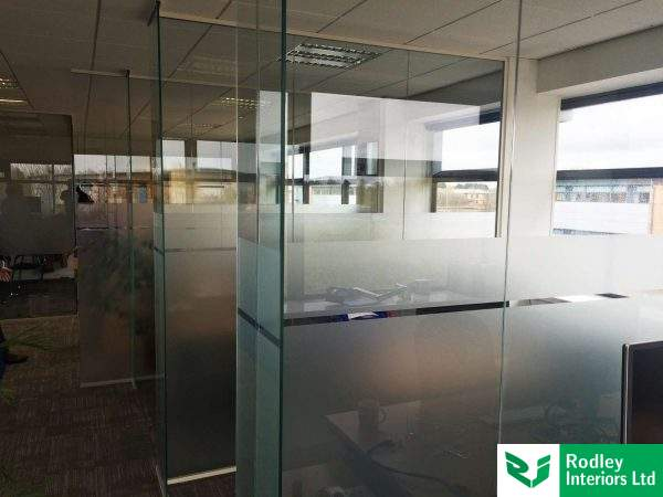 York frameless glass install