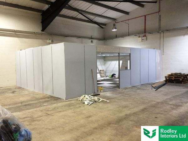 warehouse partitioning in progress