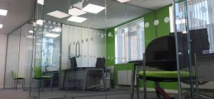 Modern frameless glass office in Wakefield