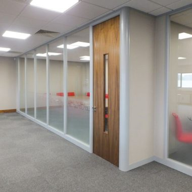 75mm-100mm soundproofed office