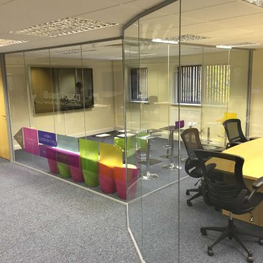 Curved office glass