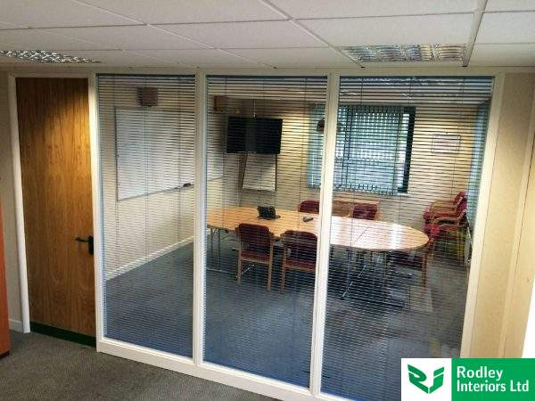 Glass office partitioning in Lancashire