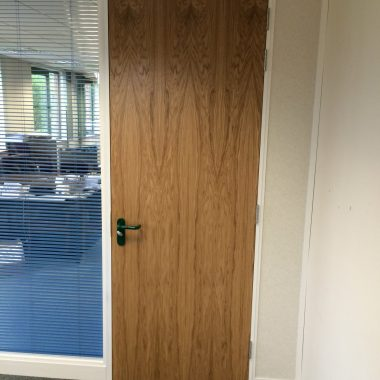 Oak office door in Lancashire