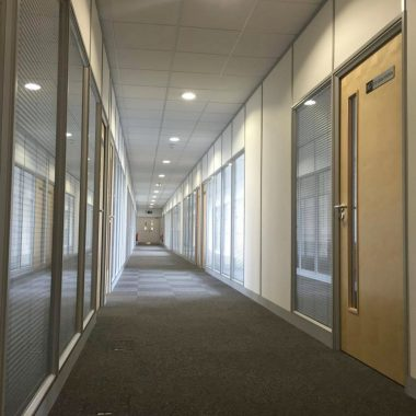 Offices formed with glass partitioning Leeds