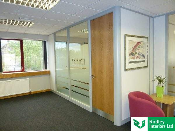 100mm office partitioning