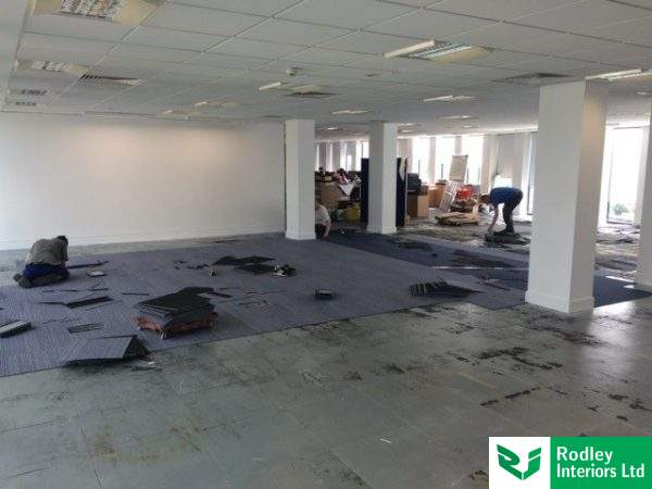Office carpet laid in Birmingham
