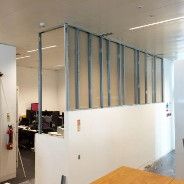 Office partitioning works underway in Manchester