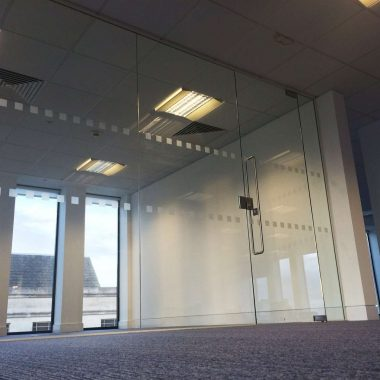 Glass office partitioning in Birmingham