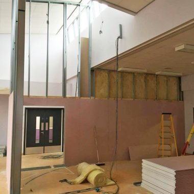 Jumbo stud partitioning wall in keighley