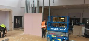 Jumbo partition wall for Keighley School