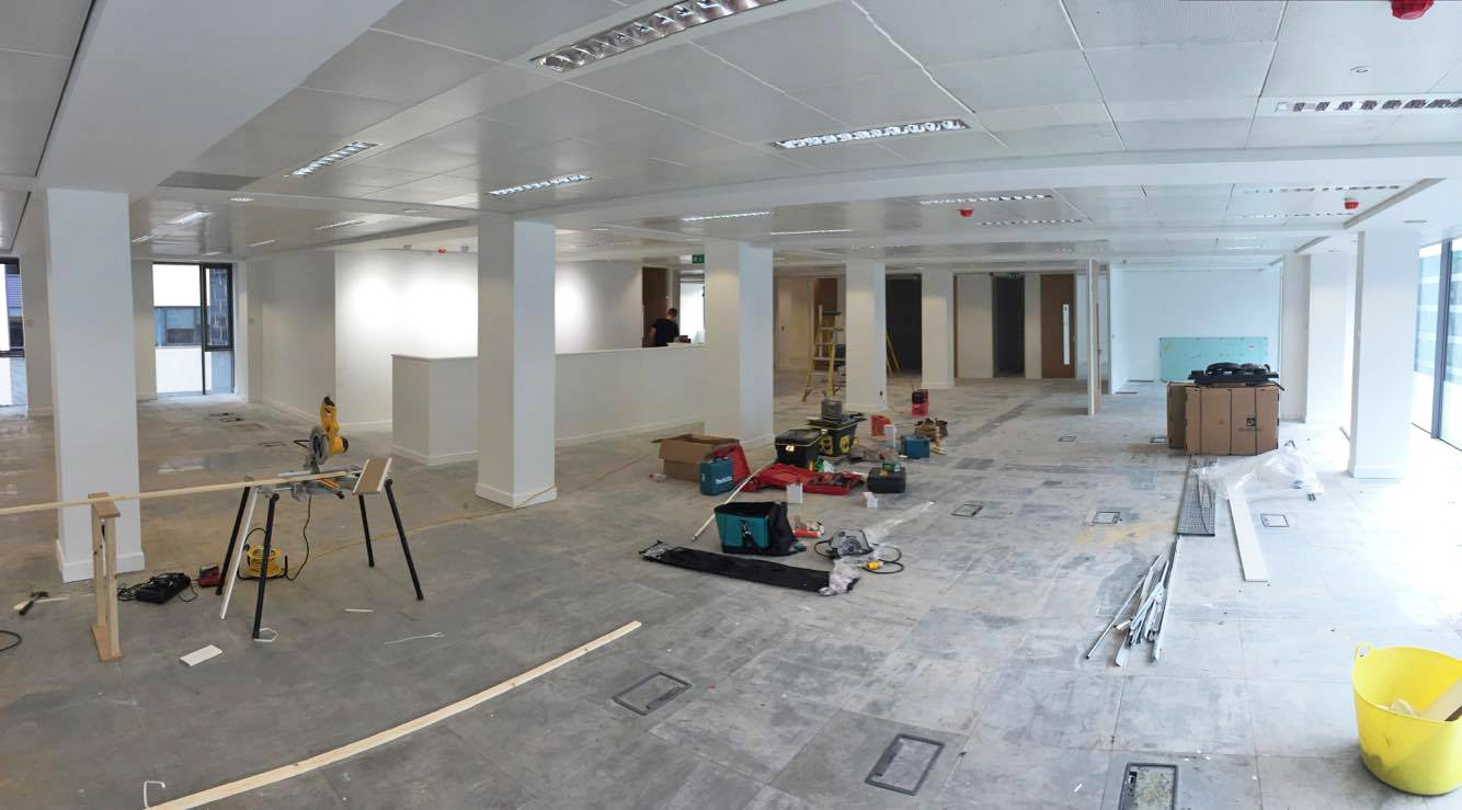 Office Refurbishment In Manchester Work In Progress Photos