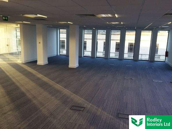 Office carpet laid in Birmingham