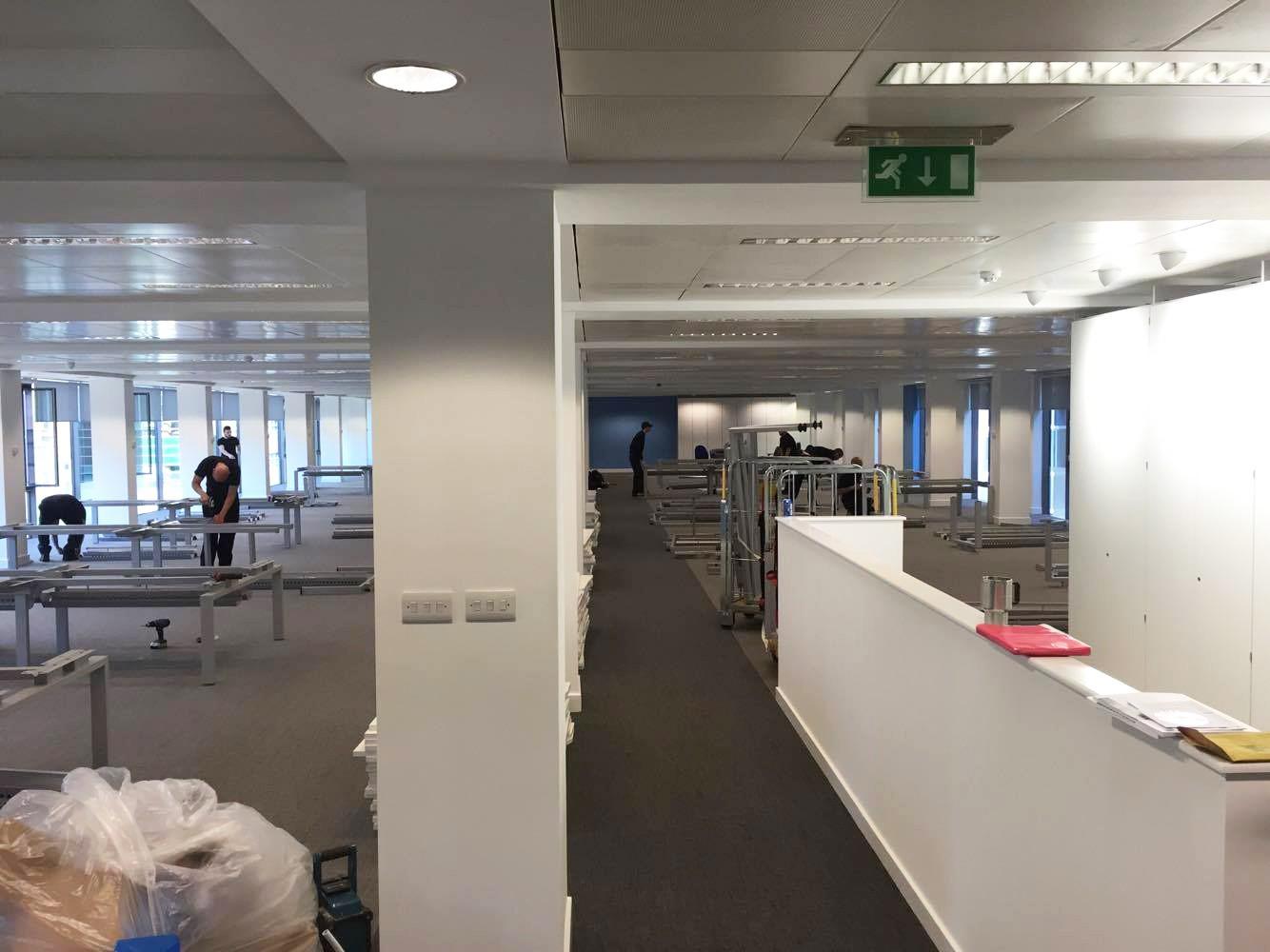 office refurbishment in manchester work in progress photos