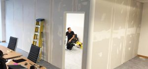 Soundproof Boardroom partitioning in Leeds