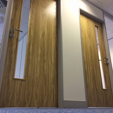 solid core office doors in Oak