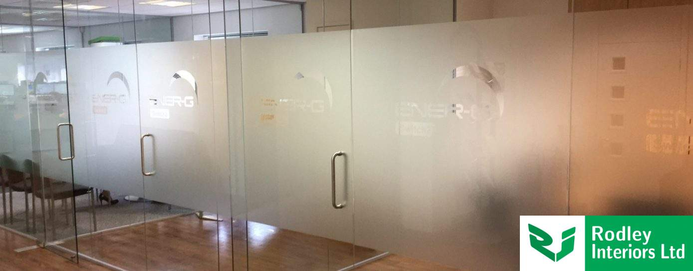 Matching existing frameless glass partitioning