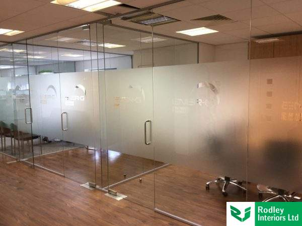 Frameless glass to match the existing