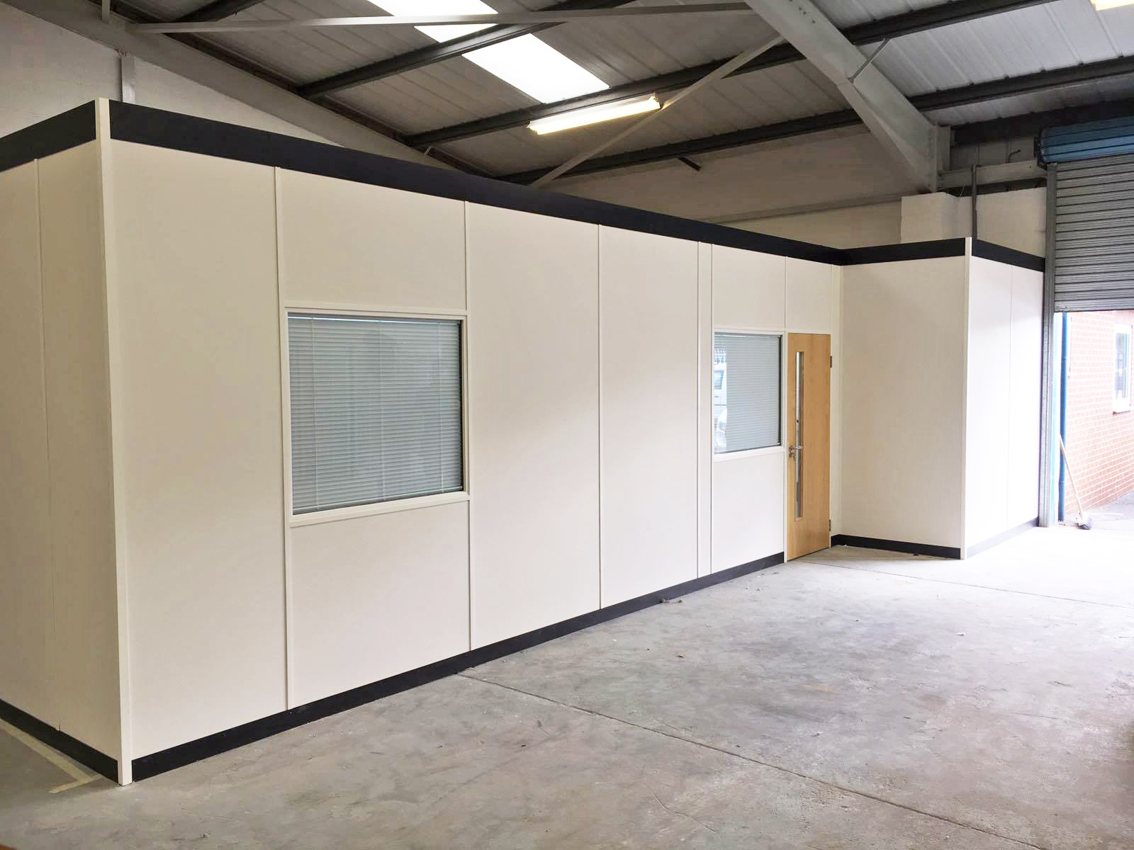 case study  warehouse office partitions