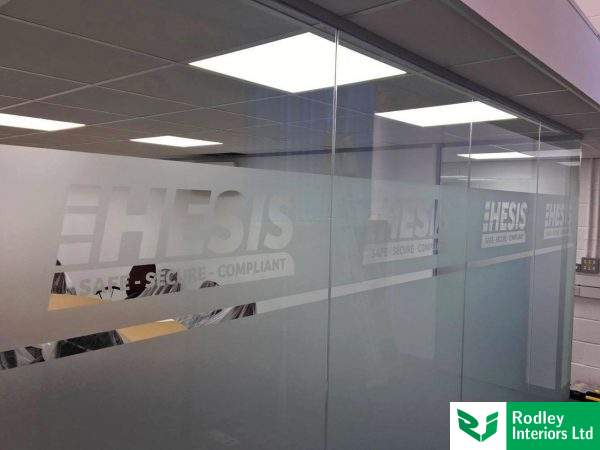 Frameless glass partitioning in liverpool