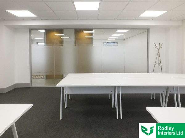 Glass wall partitions in Bradford