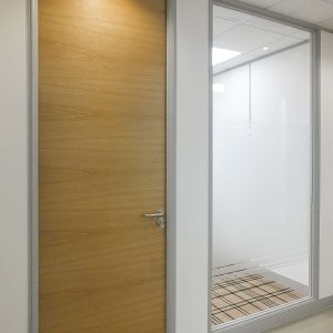 Office partition door set