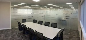Sheffield glass office partitioning