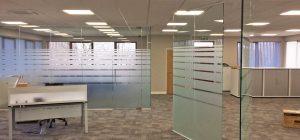 Sheffield glass office partitionin
