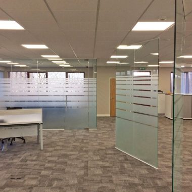 Sheffield glass office partitionin