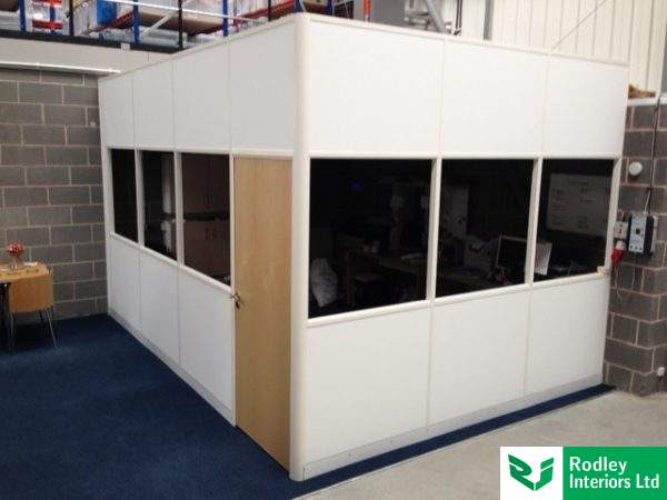 Warehouse partitioning installation.