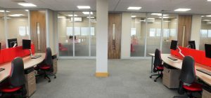 Office partitioning to add privacy to open plan spaces