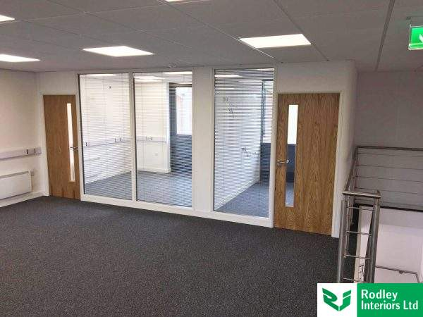 Double glazed partitioning systems