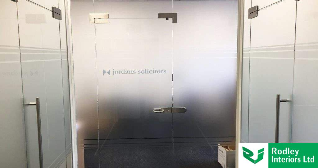 Frameless glass partitioning install for Leeds Solicitors firm