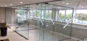 North Yorkshire frameless glass partitioning project begins